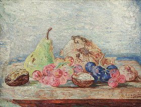 James Ensor: Stillleben mit Birne, Trauben und Nüssen