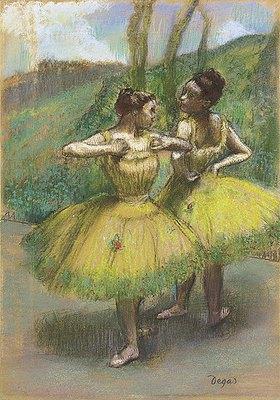 Edgar Degas: Zwei Tänzerinnen in gelb