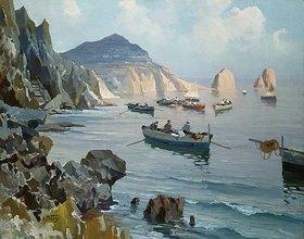 Edward Henry Potthast: Boote in einer felsigen Buch