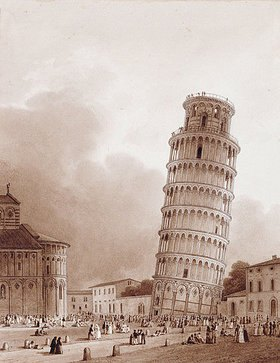 Jean-Baptiste Isabey: Der schiefe Turm von Pisa