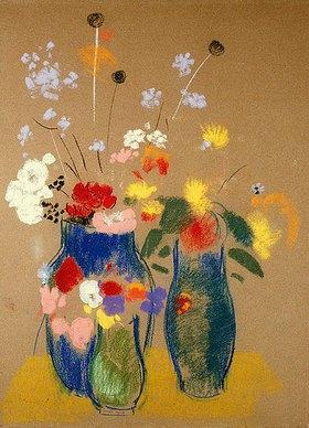 Odilon Redon: Drei Vasen mit Blumen