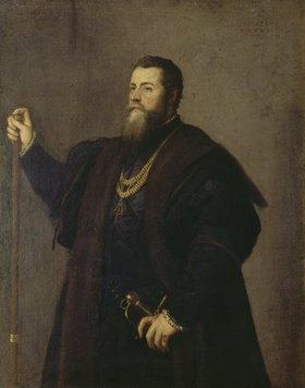 Umkreis Tizian (Tiziano Vecellio): Bildnis eines Edelmanns (Don Pedro de Toledo?)