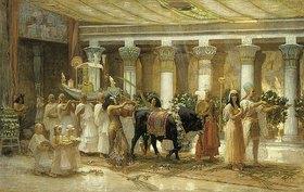 Frederick Arthur Bridgman: Die Prozession des heiligen Stieres