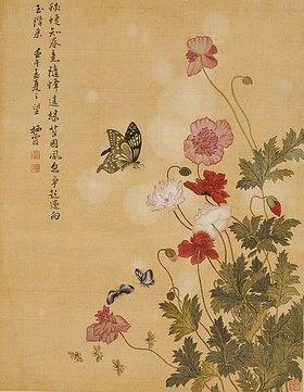 Ma Yuanyu: Mohnblumen und Schmetterlinge