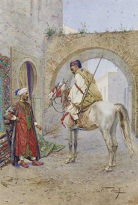 Giulio Rosati: Unterhaltung zwischen einem Teppichverkäufer und einem Reiter
