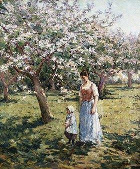 Theodore Robinson: Spaziergang unter blühenden Bäumen