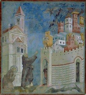 Giotto di Bondone: Die Vertreibung der Dämonen aus Arezzo