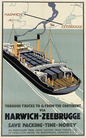 Henry George Gawthorn: Harwich-Zeebrugge. (gedruckt bei Adams Bros. and Shardlow, Ltd.)