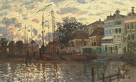 Claude Monet: Kanal in Zaandam am Abend