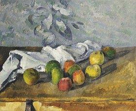 Paul Cézanne: Äpfel und ein Handtuch