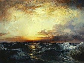 Thomas Moran: Sonnenuntergang über dem Pazifik