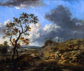 Jan Wijnants: Landschaft mit Hirten und Tieren
