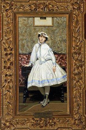 Giovanni Boldini: Alaide in einem weißen Kleid