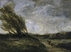 Jean-Baptiste Camille Corot: Ein windiger Tag