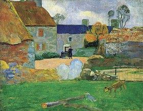 Paul Gauguin: Das blaue Dach oder das Bauernhaus in Pouldu