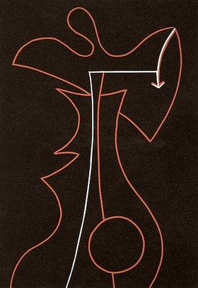 Ludwig Gebhard: Figur mit Kreis und Pfeil