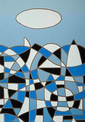 Ludwig Gebhard: blue landscape