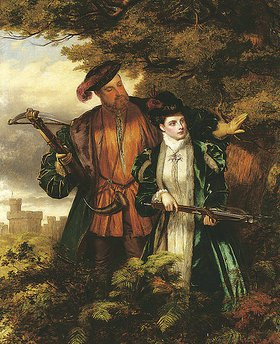 William Powel Frith: Heinrich VIII und Anne Boleyn auf der Rehjagd im Windsor Forest