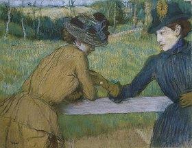 Edgar Degas: Zwei Frauen beim Gespräch an einem Zaun