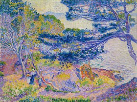 Henri Edmond Cross: Küstenlandschaft (Le cap Layet, petite version)