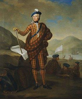 E. Gill: Harlequin Portrait von Prince Charles Edward Stewart (1720-1788)