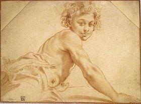 Annibale Carracci: Junge, über seine Schulter schauend