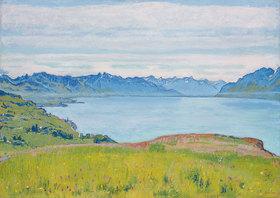 Ferdinand Hodler: Landschaft am Genfer See
