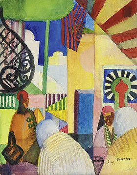 August Macke: Im Bazar