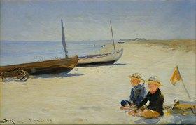 Peter Severin Kroyer: Jungen am Strand von Skagen