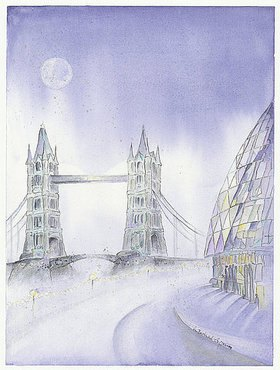 Annette Bartusch-Goger: England - London: Tower Bridge und City Hall