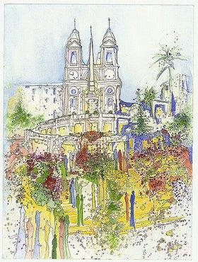 Annette Bartusch-Goger: Italien - Rom: Spanische Treppe
