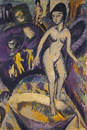 Ernst Ludwig Kirchner: Weiblicher Akt mit Badezuber