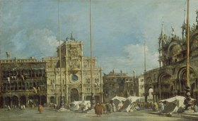Francesco Guardi: Der Uhrturm am Markusplatz