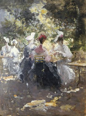 Pompeo Mariani: Elegante Damen beim Tee trinken