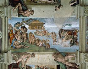 Michelangelo: Deckengemälde in der Sixtinischen Kapelle Rom: Die Sintflut