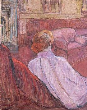 Henri de Toulouse-Lautrec: Frau auf einem roten Sofa