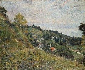 Camille Pissarro: Hügelige Landschaft bei Auvers