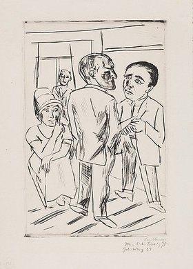 Max Beckmann: Im Hotel ( Der Dollar). 1923 (H 260 B.a.)