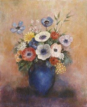 Odilon Redon: Blumen in einer blauen Vase