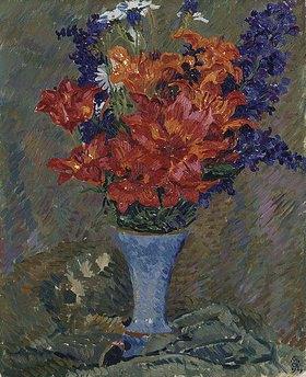 Giovanni Giacometti: Feuerlilien (Feldblumenstrauss)