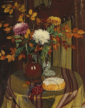 Felix Vallotton: Chrysanthemen and Herbstblätter