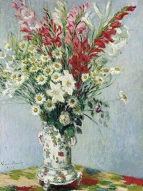 Claude Monet: Blumenstrauß aus Gladiolen, Lilien und Margeriten