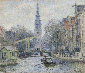 Claude Monet: Ansicht von Amsterdam mit Kanal