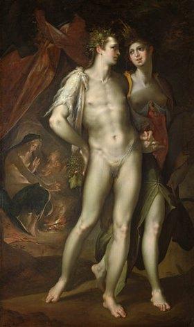 Bartholomäus Spranger: Bacchus und Ceres verlassen Venus