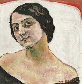Ferdinand Hodler: Bildnis einer Frau mit braunem Haar