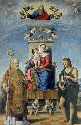 Fabrizio Santafede: Madonna mit Kind und dem Heiligen Nikolaus und Johannes dem Täufer
