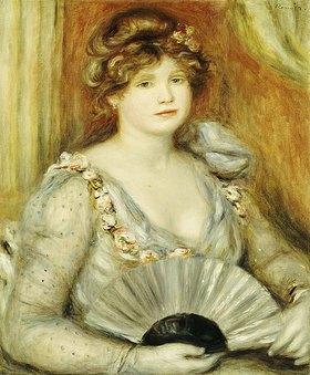 Auguste Renoir: Bildnis einer Frau mit Fächer