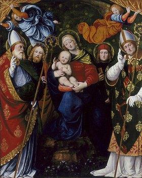 Gaudenzio (G.de Vincio) Ferrari: Maria mit Kind und Heiligen (Detail aus einem Wandelaltar)