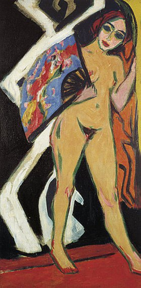 Ernst Ludwig Kirchner: Dodo mit großem Fächer