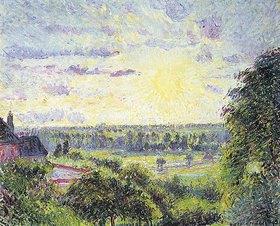 Camille Pissarro: Sonnenuntergang in Eragny